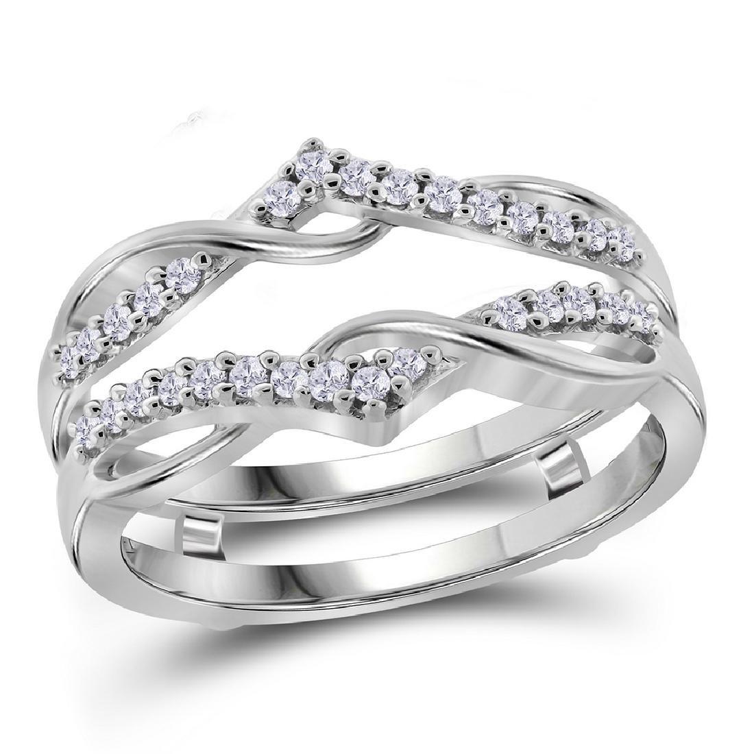 0.25 CTW Diamond Wrap Ring 10KT White Gold - REF-30M2H
