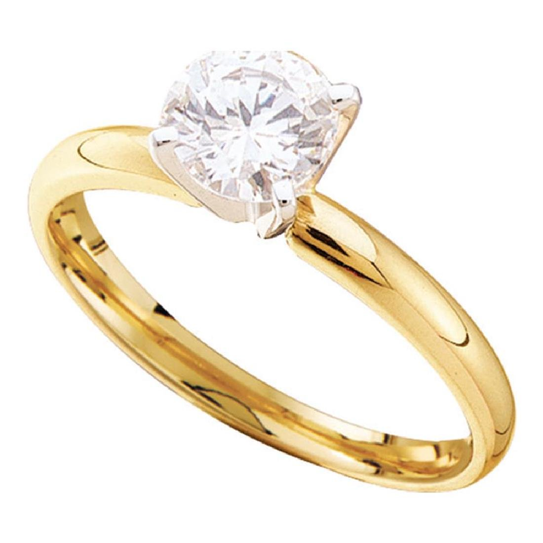 0.20 CTW Diamond Solitaire Bridal Engagement Ring 14KT