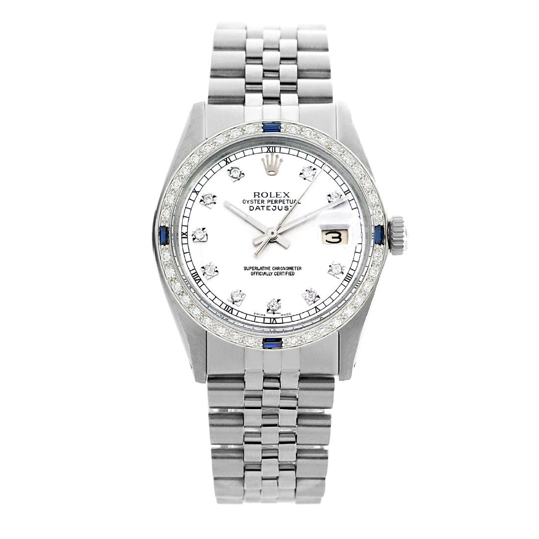 Rolex Pre-owned 36mm Mens White Stainless Steel -