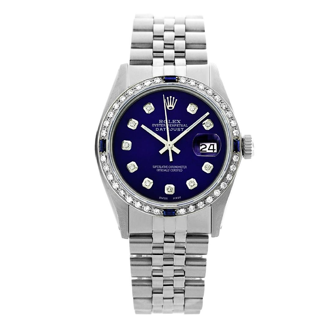 Rolex Pre-owned 36mm Mens Blue Dial Stainless Steel -