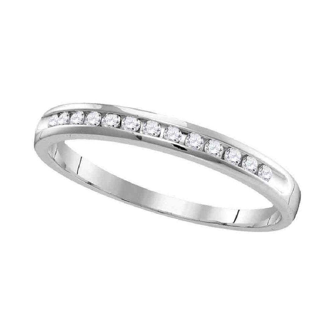 0.27 CTW Diamond Wedding Ring 14KT White Gold -