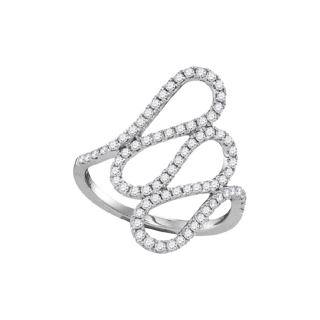 0.54 CTW Diamond Openwork Single Row Cascading Ring