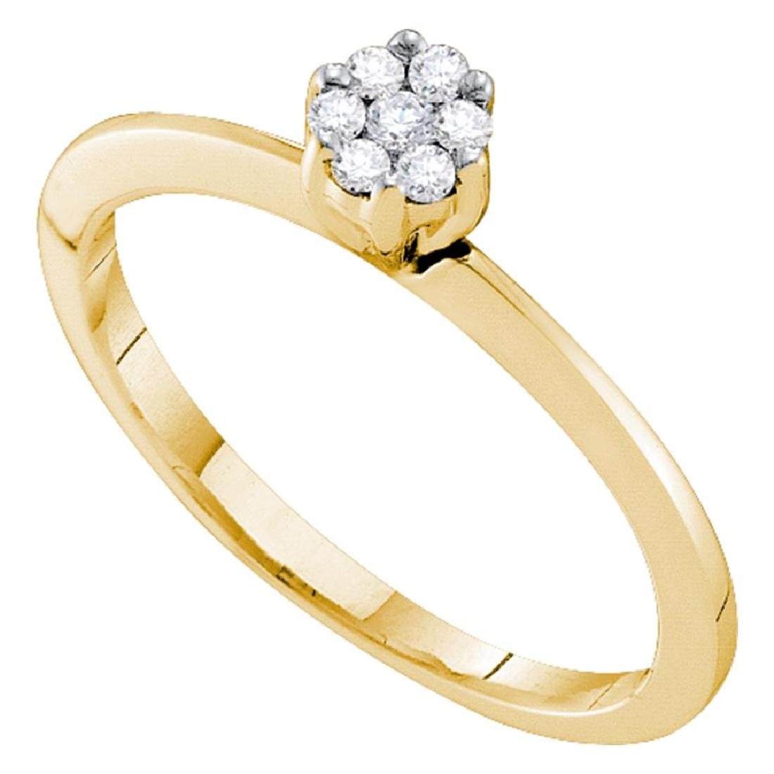0.12 CTW Diamond Cluster Bridal Engagement Promise Ring