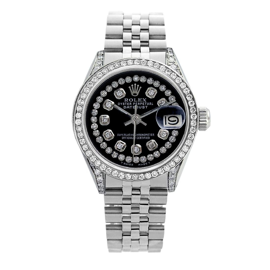 Rolex Pre-owned 36mm Mens String Black Dial Stainless