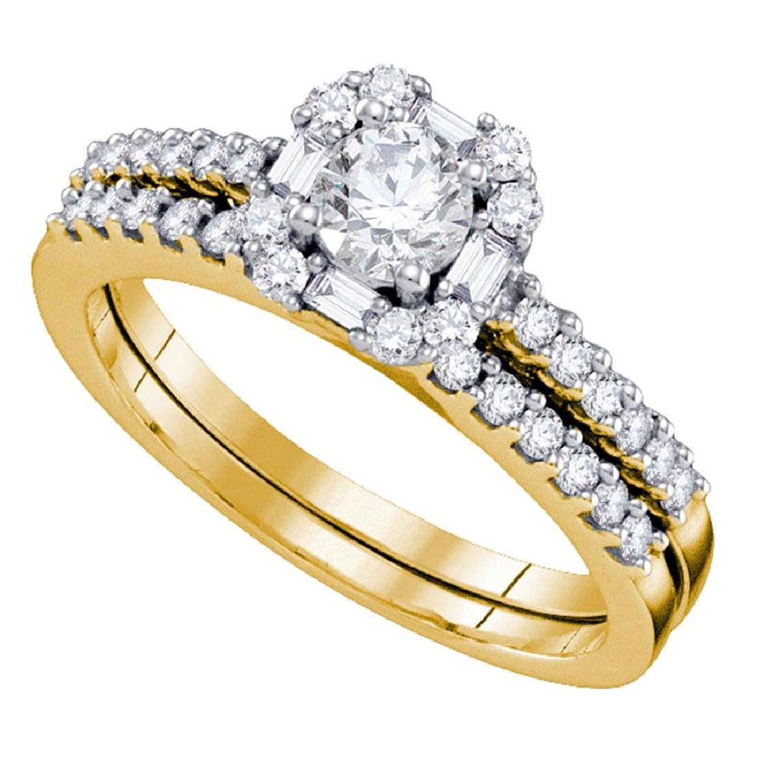 0.75 CTW Diamond Halo Bridal Wedding Engagement Ring