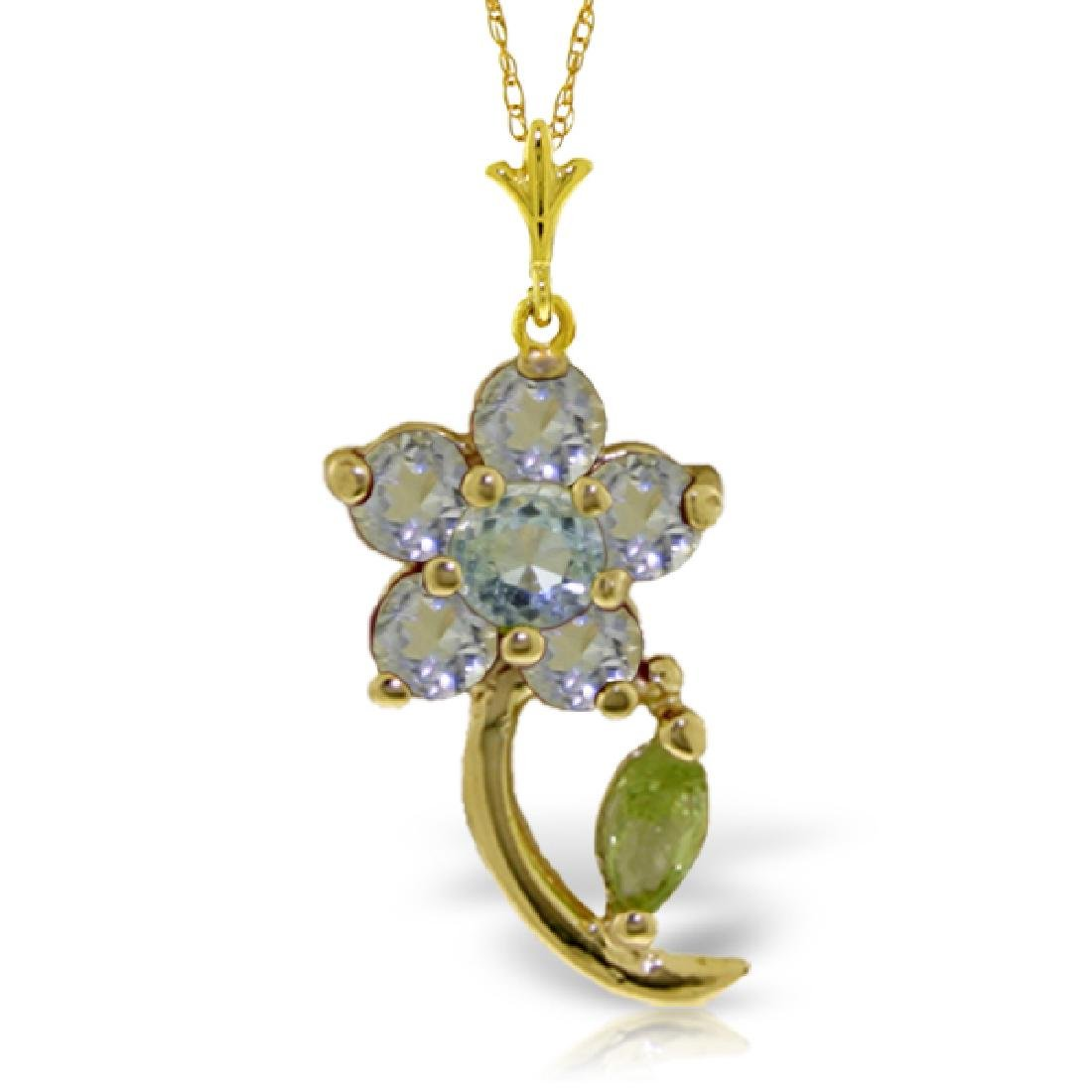 Genuine 0.87 ctw Aquamarine & Pearl Necklace Jewelry