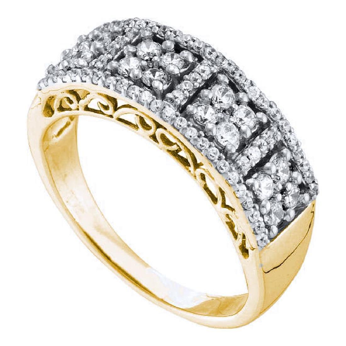 0.51 CTW Diamond Symmetrical Square Cluster Ring 14KT