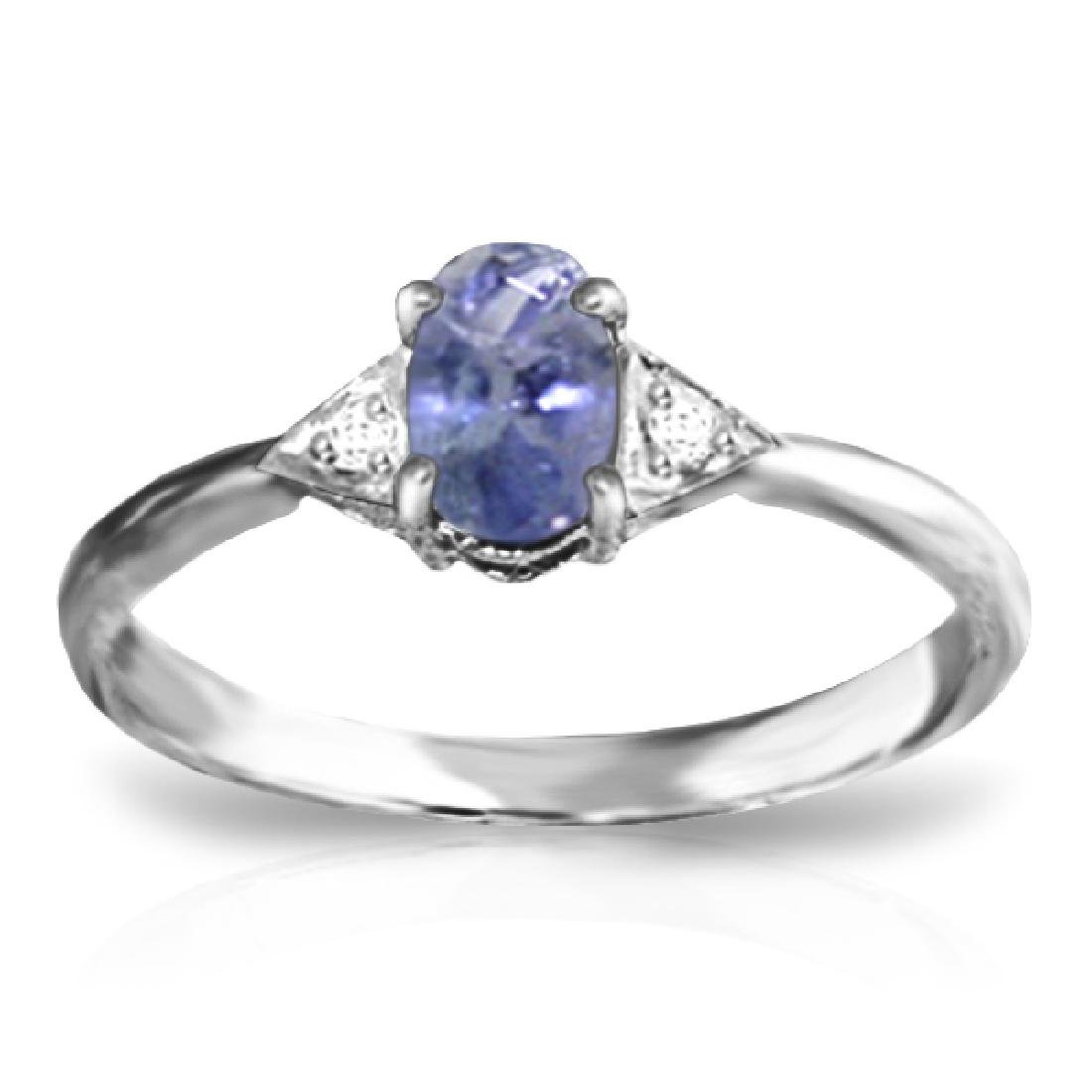 Genuine 0.41 ctw Tanzanite & Diamond Ring Jewelry 14KT