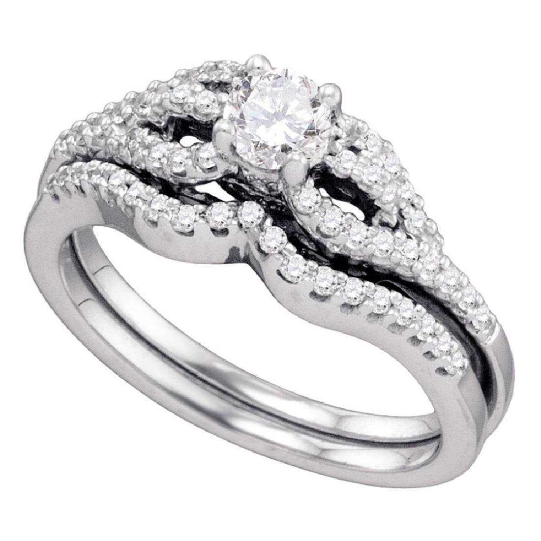 0.75 CTW Diamond Bridal Wedding Engagement Ring 14KT