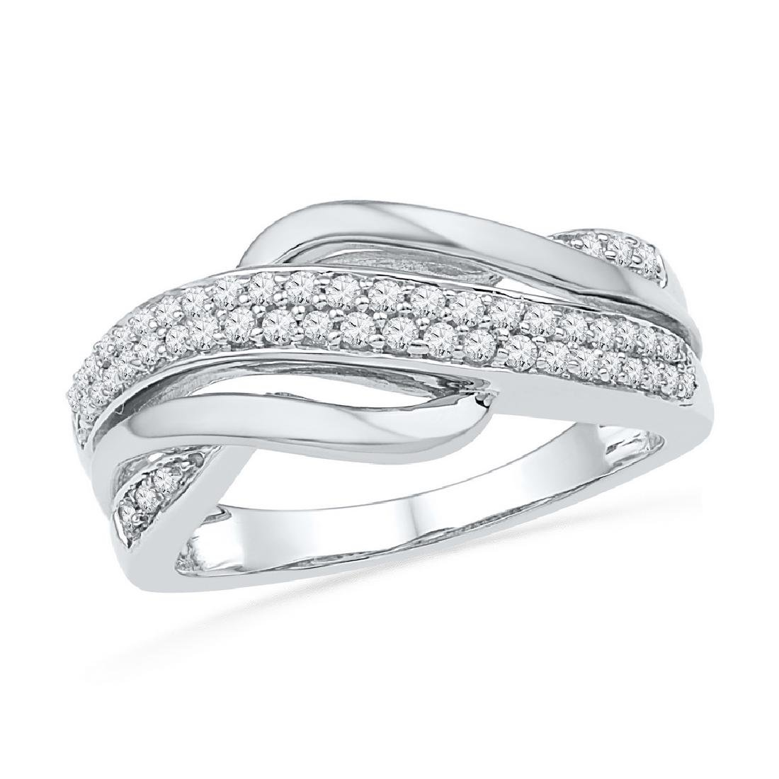 0.33 CTW Diamond Crossover Ring 10KT Two-tone Gold -