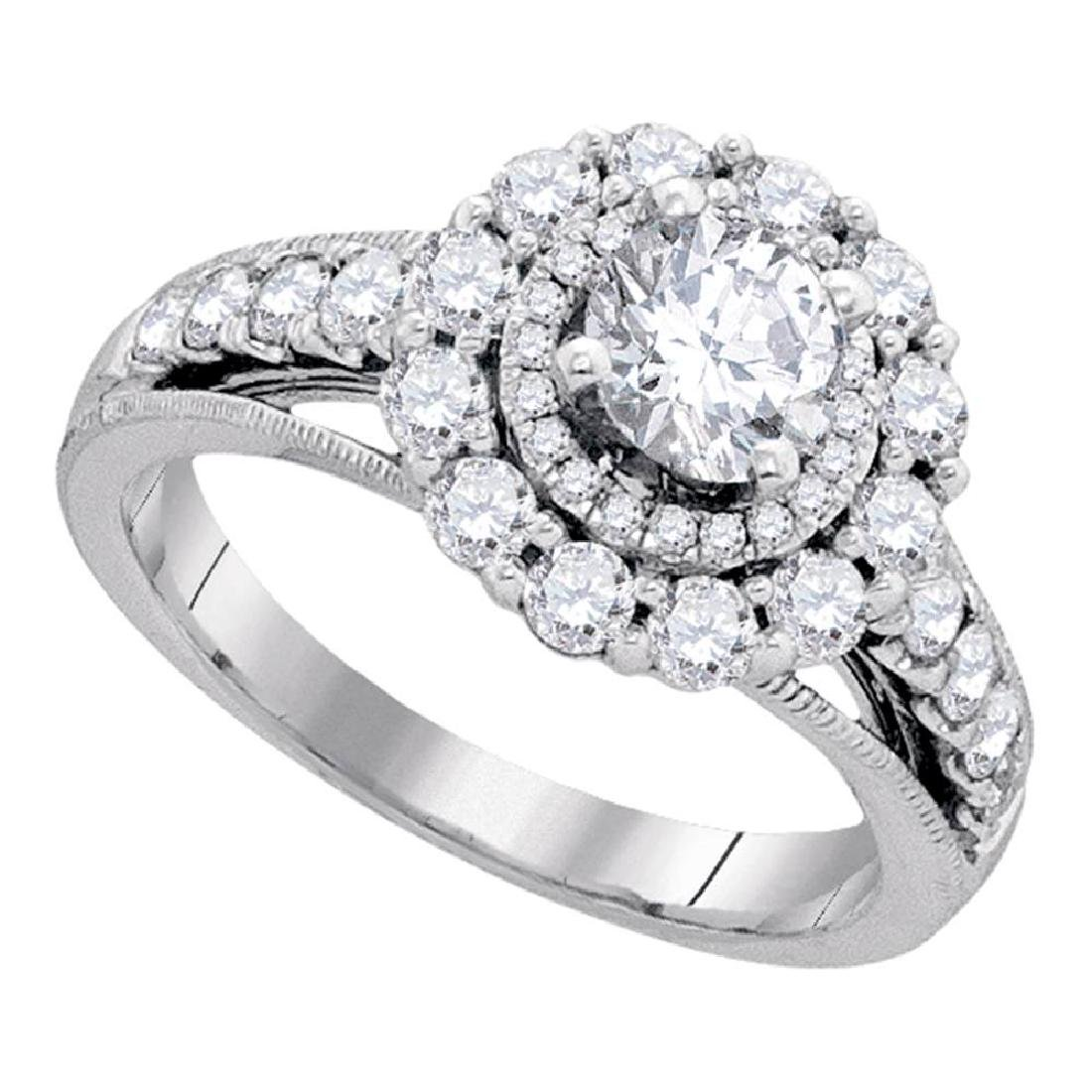 1.75 CTW Diamond Solitaire Bridal Engagement Ring 14KT