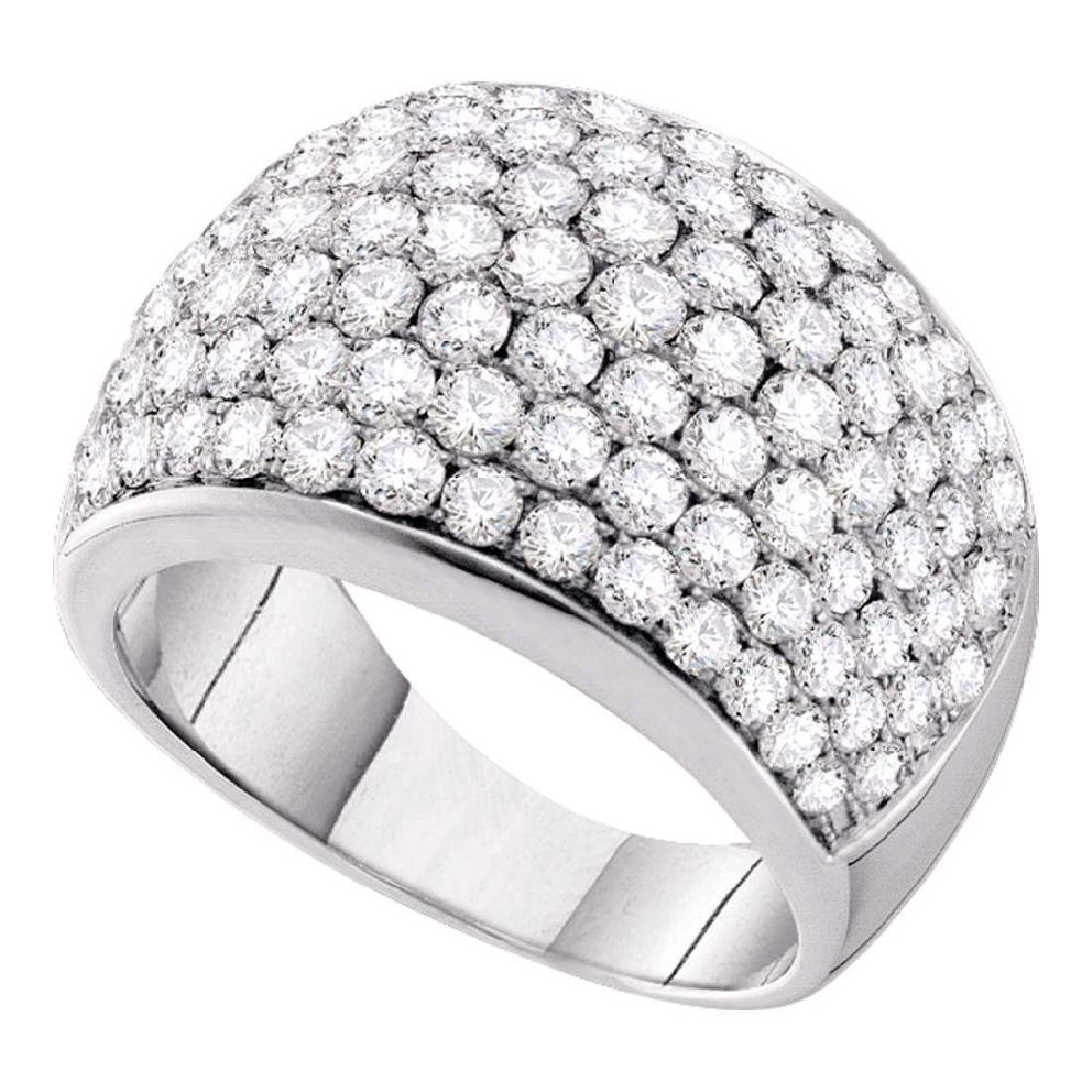 3 CTW Pave-set Diamond Cocktail Ring 14KT White Gold -