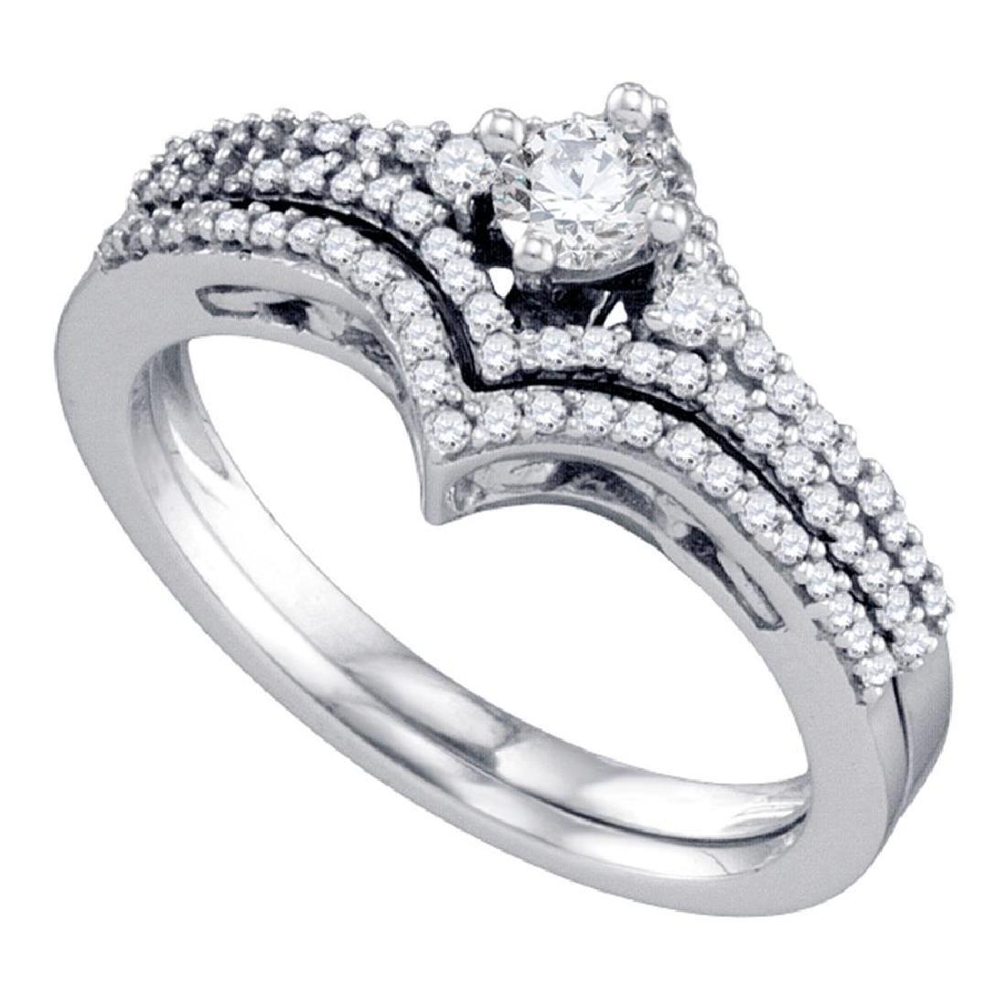 0.50 CTW Diamond Chevron Bridal Wedding Engagement Ring