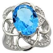 Natural 559 ctw swissbluetopaz  Diamond Engagement