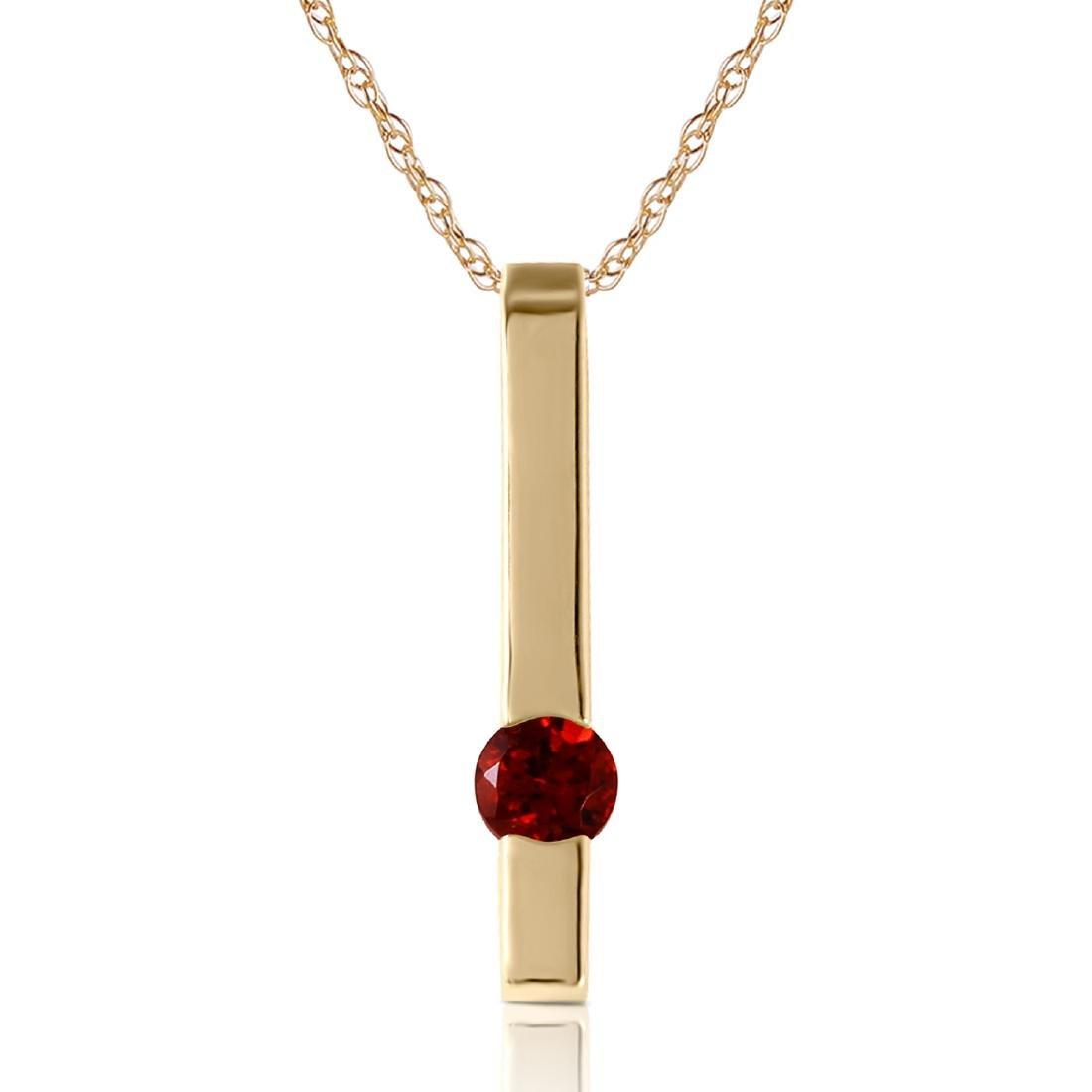Genuine 0.25 ctw Garnet Necklace Jewelry 14KT Yellow