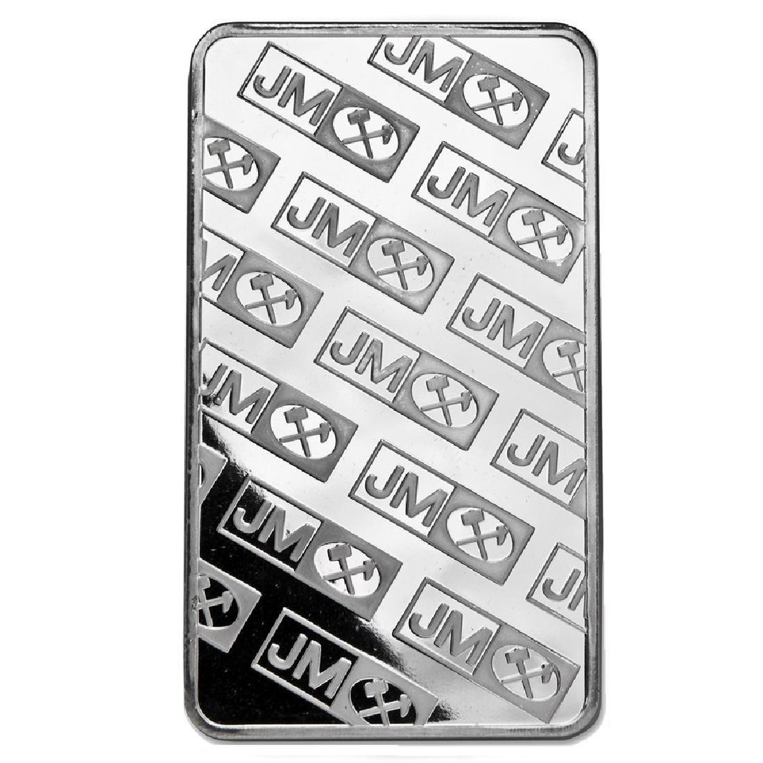 Genuine 10 oz 0.999 Fine Silver Bar - Johnson Matthey - 2
