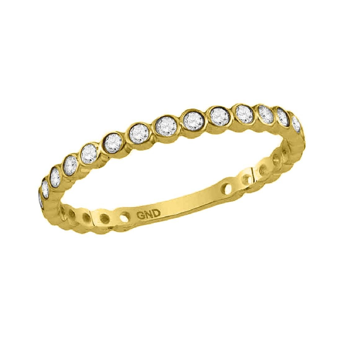 0.18 CTW Diamond Stackable Ring 10KT Yellow Gold -