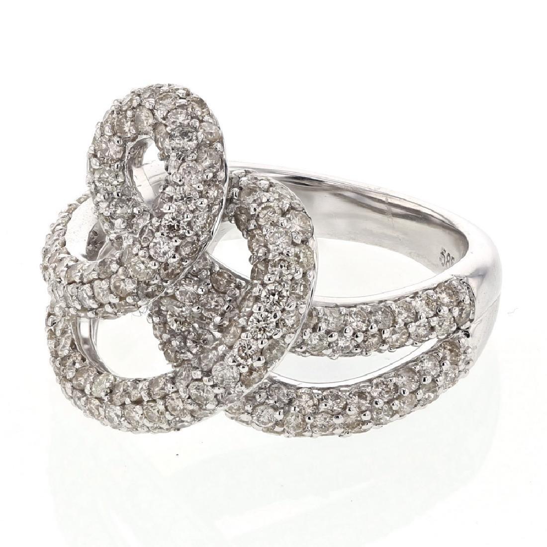 2.75 CTW Diamond Ring 14K White Gold - REF-149R6K