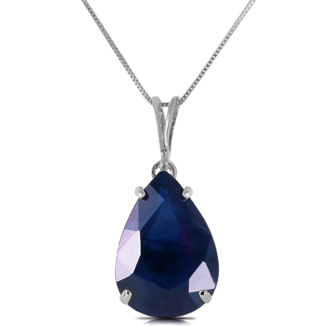Genuine 4.65 ctw Sapphire Necklace Jewelry 14KT White
