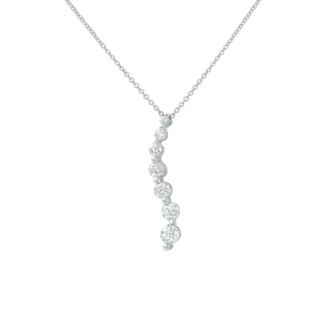 0.75 CTW Diamond Necklace 14K White Gold - REF-65W5H