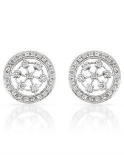 071 CTW Diamond Earrings 14K White Gold REF47F2N