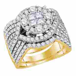 252 CTW Princess Diamond Soleil Bridal Engagement Ring