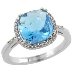 Natural 411 ctw Swissbluetopaz Diamond Engagement
