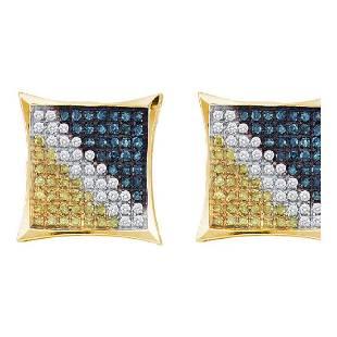 023 CTW Mens Blue Color Diamond Square Kite Cluster