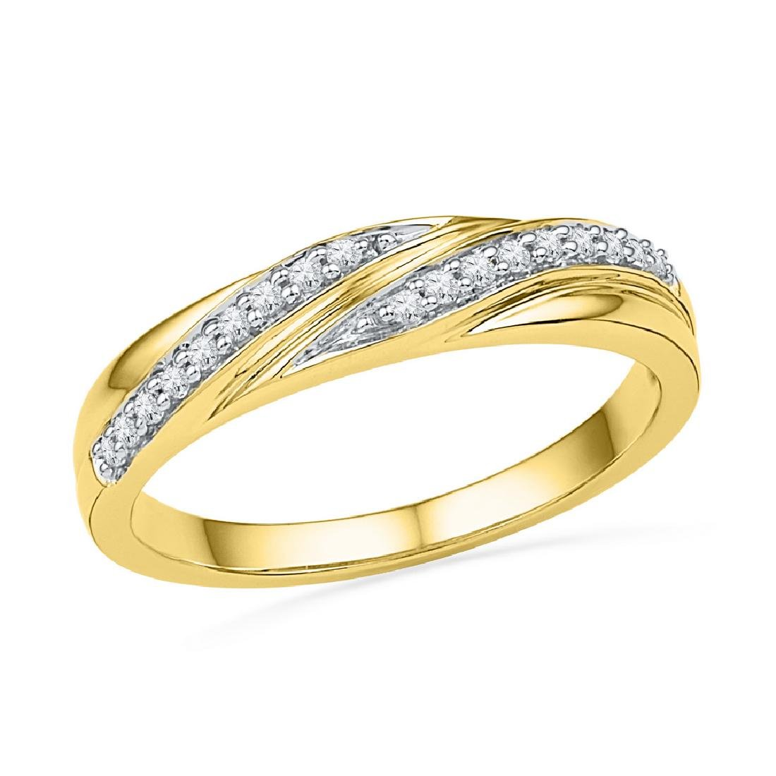 0.10 CTW Diamond Simple Ring 10KT Yellow Gold -