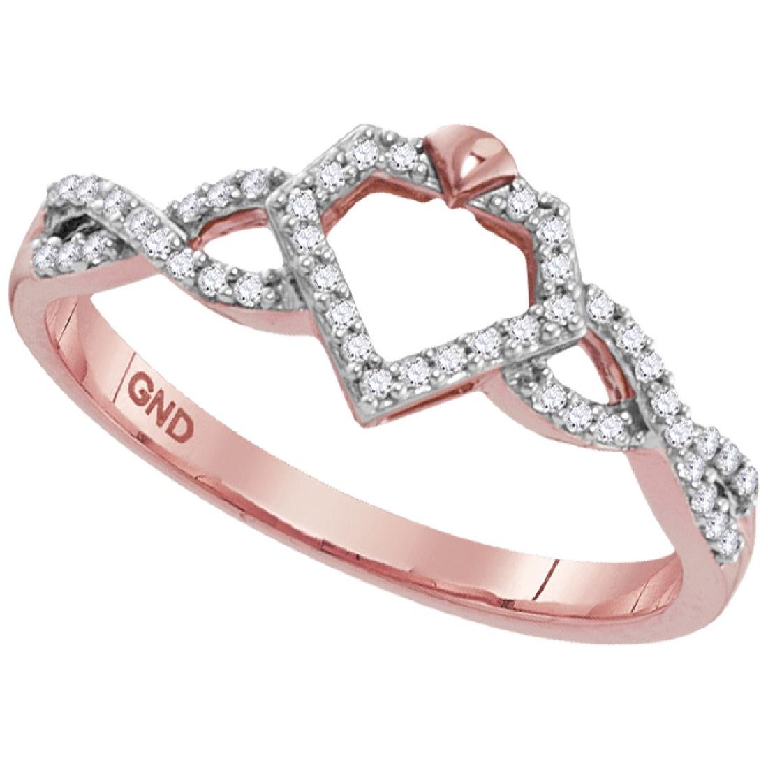 0.15 CTW Diamond Diamond-shape Fashion Ring 10KT Yellow
