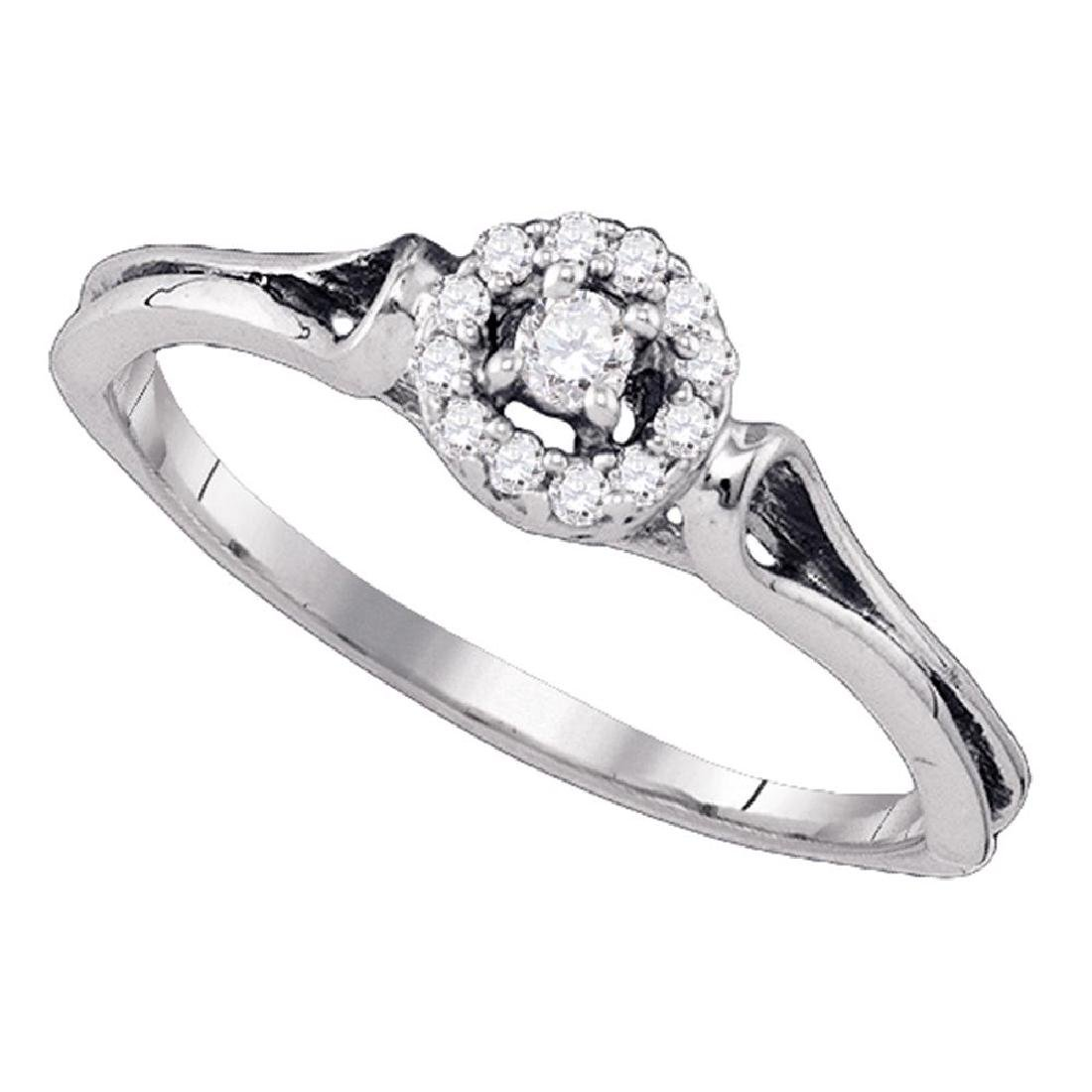 0.10 CTW Diamond Solitaire Bridal Engagement Ring 10KT