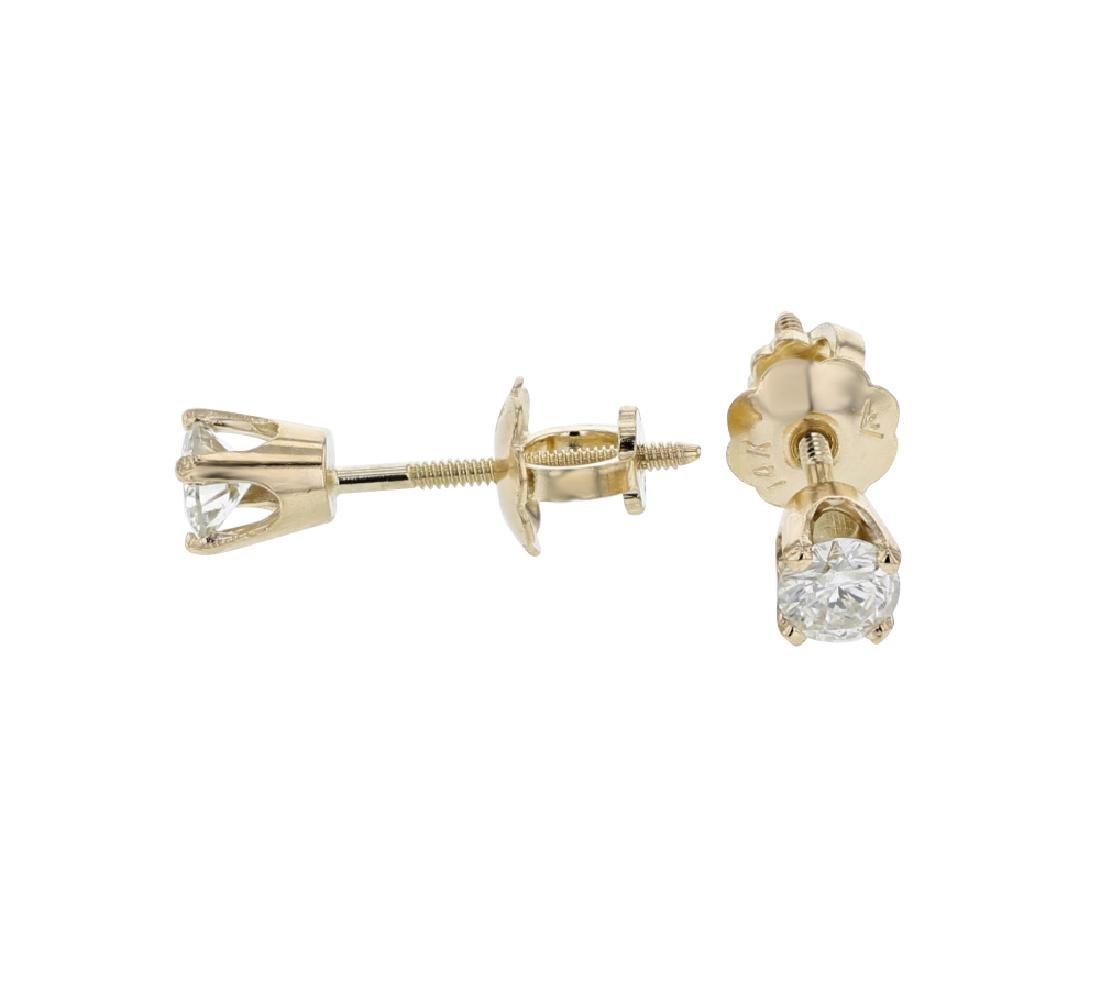 0.21 CTW Diamond Earrings 14K Yellow Gold - REF-19K3W