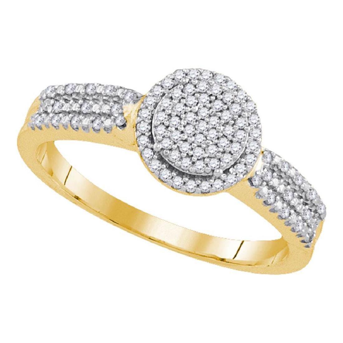 0.20 CTW Diamond Circle Cluster Bridal Engagement Ring