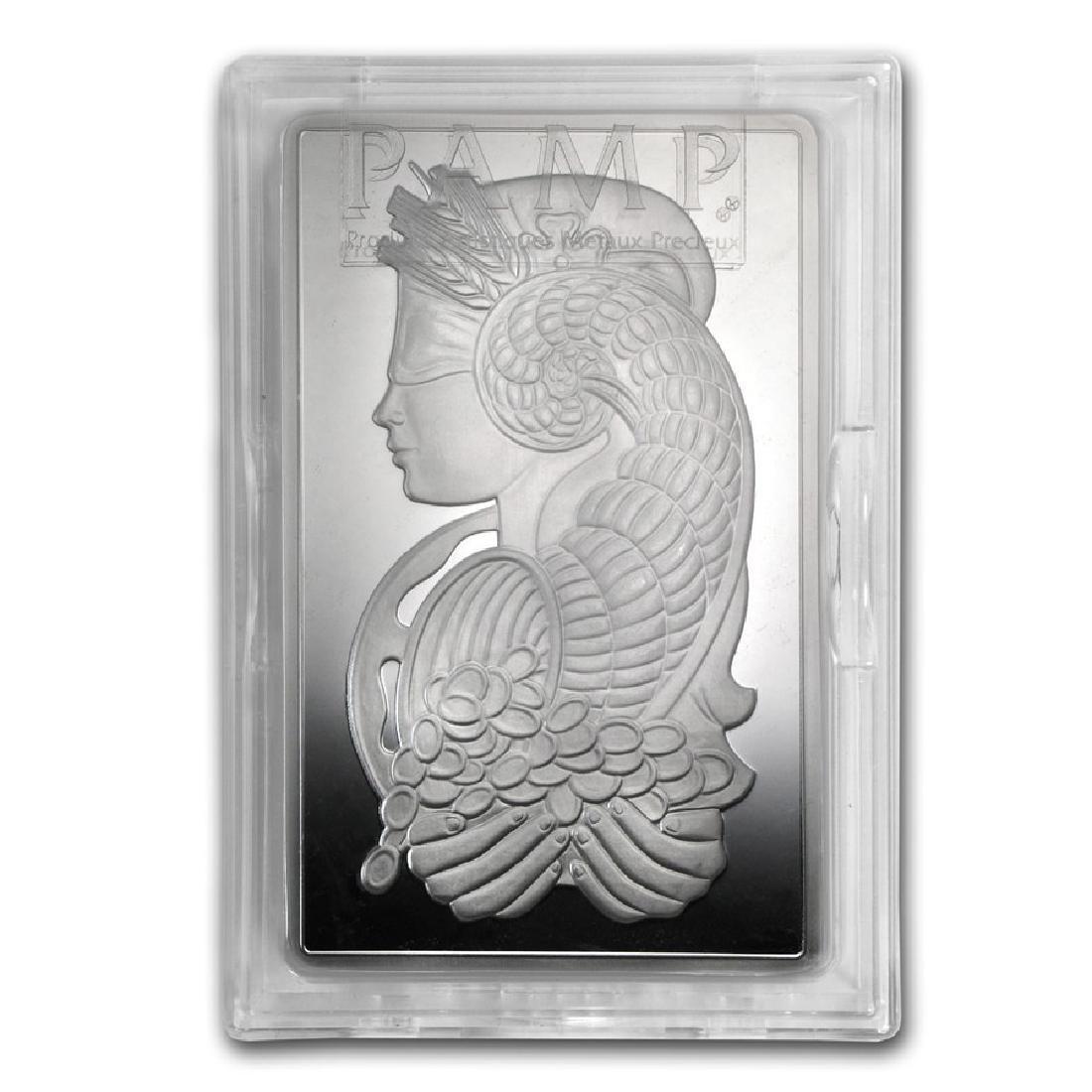 Genuine 10 oz 0.999 Fine Silver Bar - PAMP Suisse