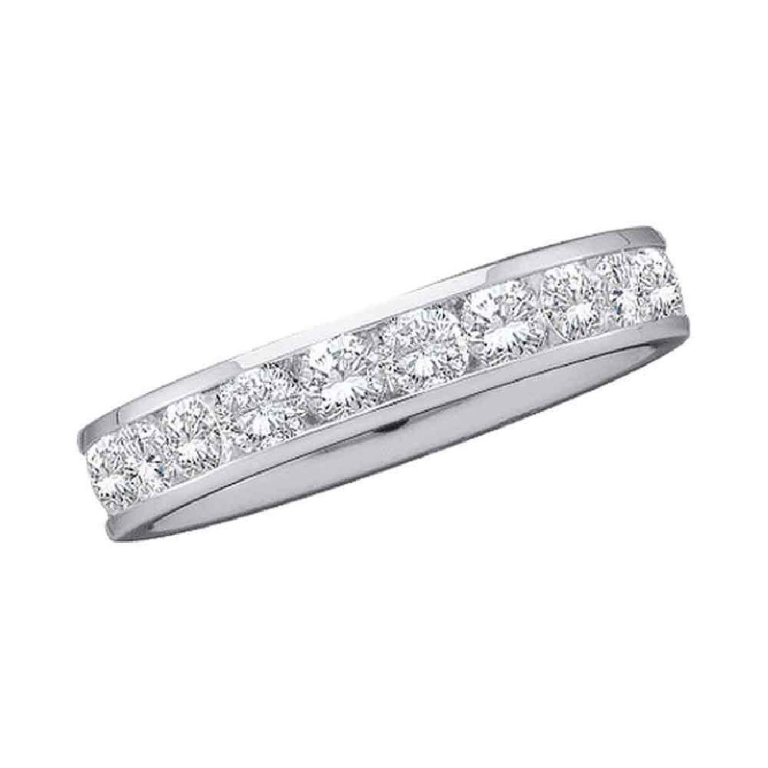 0.28 CTW Diamond Wedding Ring 14KT White Gold -