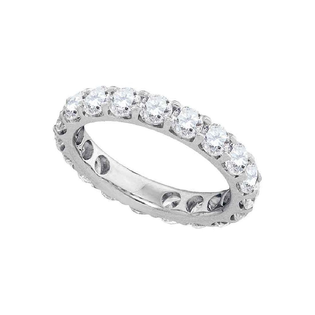 3.02 CTW Diamond Wedding Ring 14KT White Gold -