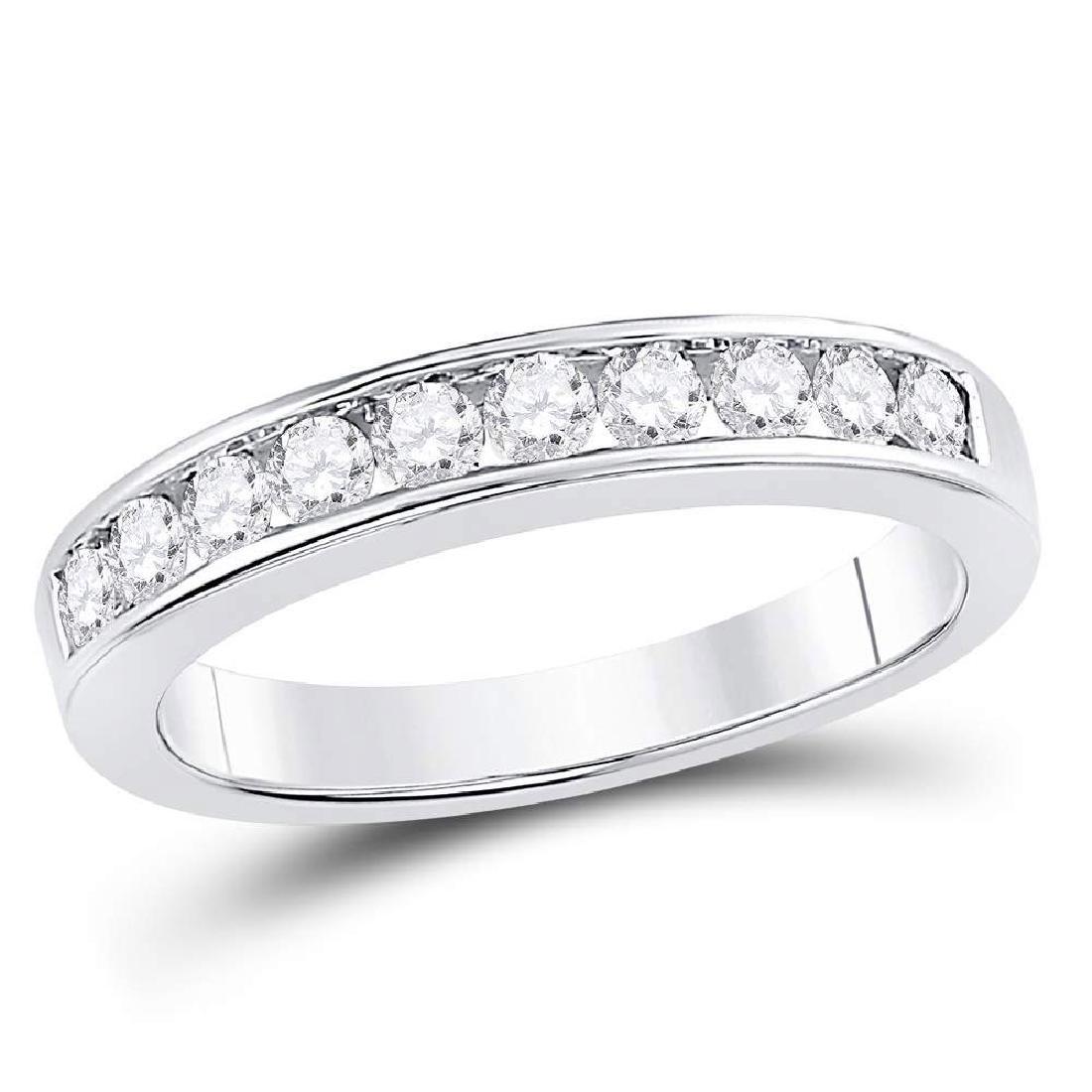 0.50 CTW Diamond Wedding Ring 14KT White Gold -