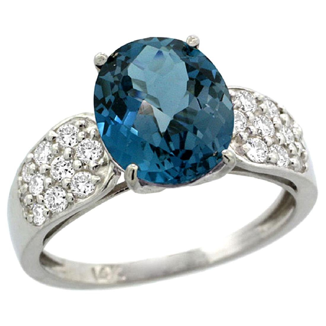 Natural 2.75 ctw london-blue-topaz & Diamond Engagement