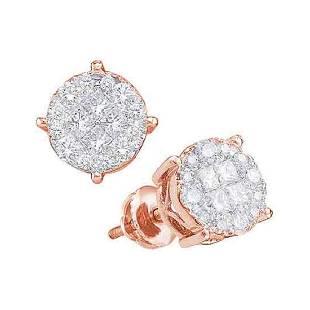 1 CTW Princess Diamond Soleil Cluster Screwback