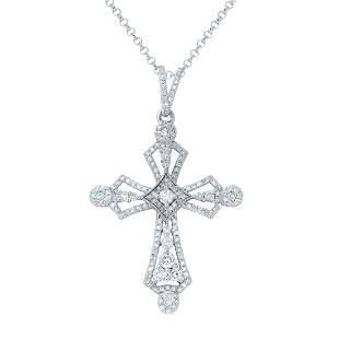 089 CTW Diamond Pendant 14K White Gold REF70M4F