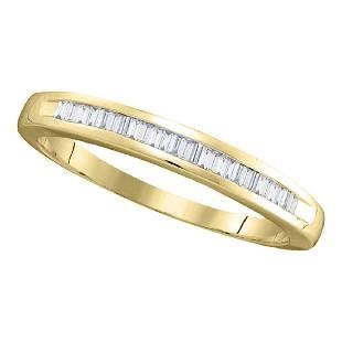025 CTW Diamond Wedding Ring 14KT Yellow Gold
