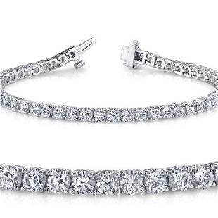 Natural 401ct VSSI Diamond Tennis Bracelet 18K White