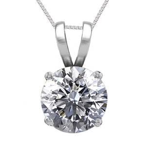 14K White Gold 052 ct Natural Diamond Solitaire