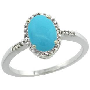 Natural 12 ctw Turquoise Diamond Engagement Ring 14K