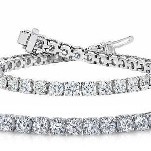 Natural 6ct VSSI Diamond Tennis Bracelet 18K White