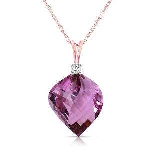 Genuine 1080 ctw Amethyst Diamond Necklace Jewelry