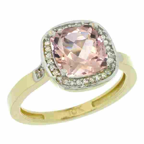 Natural 211 ctw Morganite Diamond Engagement Ring