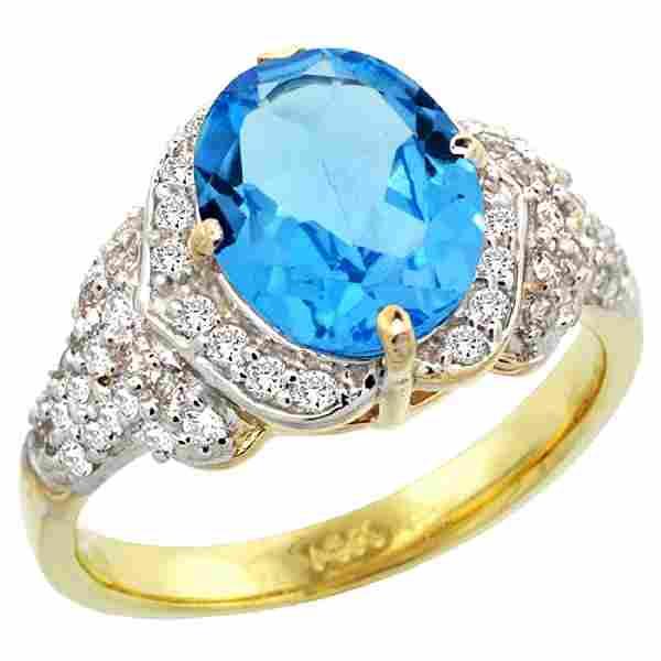 Natural 292 ctw swissbluetopaz Diamond Engagement