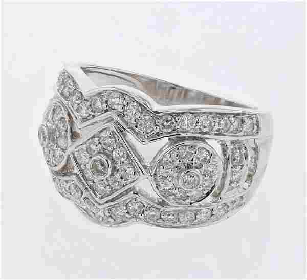 108 CTW Diamond Ring 18K White Gold REF130F7N