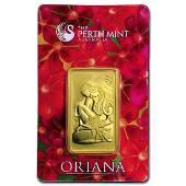 Genuine 1 oz 09999 Fine Gold Bar Perth Mint Oriana
